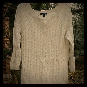 White light weight sweater